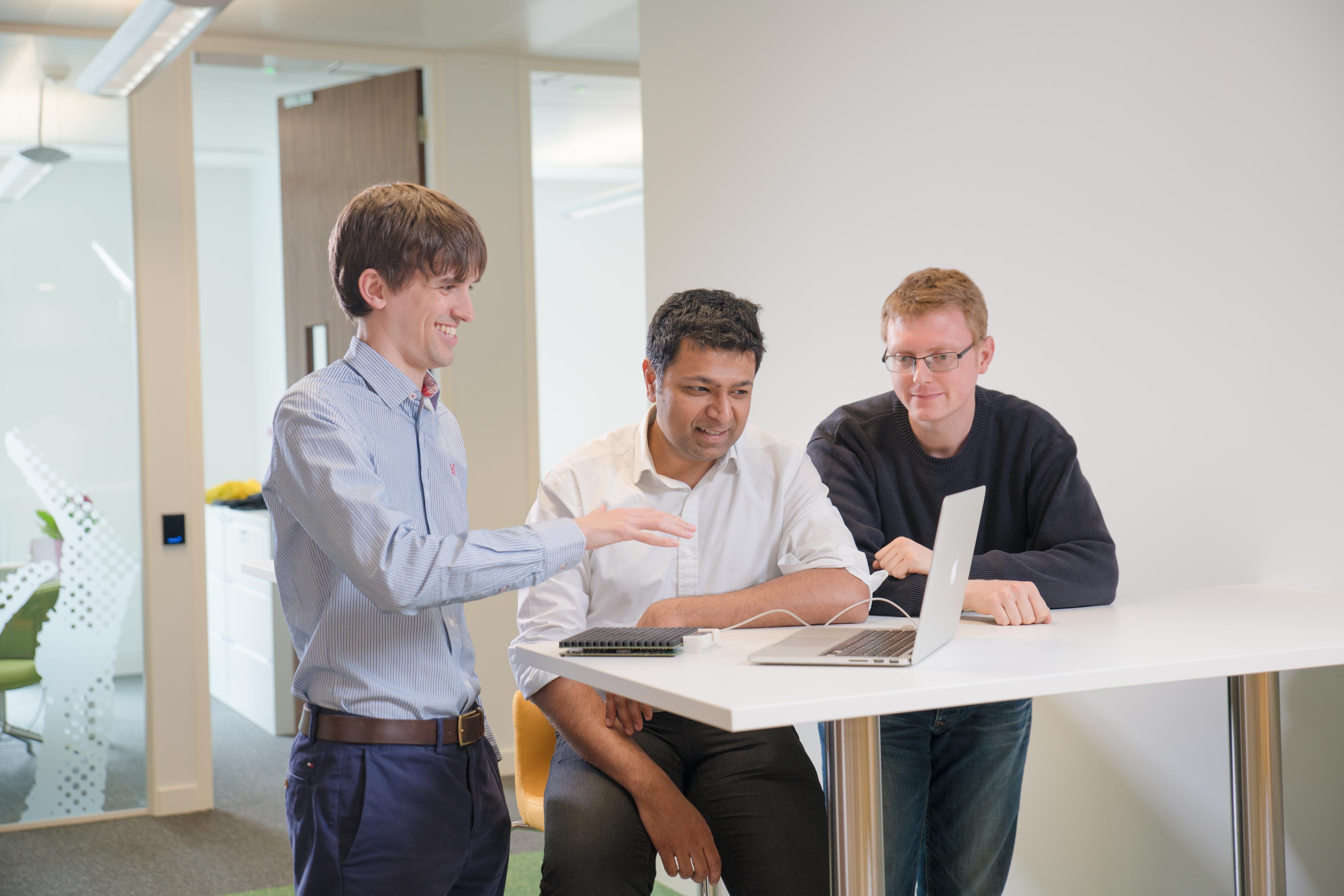 Ultrahaptics team photographed at their HQ in Bristol  Pic - Gareth Iwan Jones