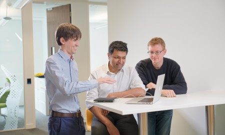 Ultrahaptics team photographed at their HQ in Bristol  Pic - Gareth Iwan Jones